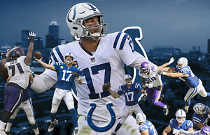Indianapolis Colts Lithograph print of Philip Rivers 2020 17 x 11