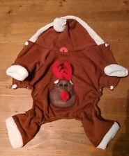 Xmas Reindeer Hooded Dog Costume