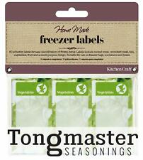 Pack of 60 Assorted Freezer Food Labels Meat/Fish/Vegetables/Fruit