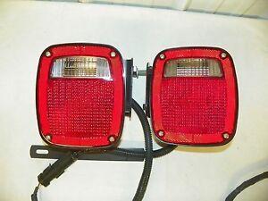 Chrysler Dodge Jeep Universal TAIL TURN LIGHT Set w/ Side Marker & Wiring Plug