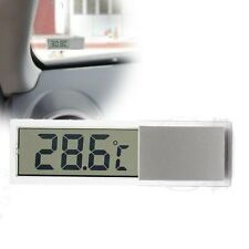 Transparent Digital Lcd Car Windscreen Temperature Thermometer Suction Cup C/F