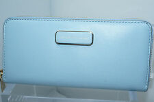 New Marc By Marc Jacobs Wallet Ligero Slim Zip Around Blue Continental Bag