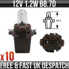 12v 1.2w B8.7D Brown Base Dashboard, Instrument & Panel Bulb R509TWBR Pack of 10