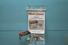 acc030 - MINICIRQUE - kit Set de cuisine pour cirques, diorama, etc - 1/50