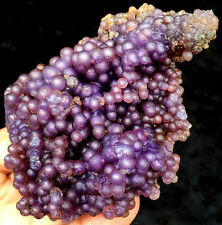 298g Natural Botryoidal Chalcedony Purple Grape Agate Specimen ic3900