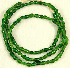 Old GREEN Translucent Glass African Trade Beads Ovals 4 x 6mm