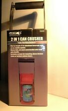 Grip 2 in 1 12oz Aluminum Can Crusher Red Heavy Duty Steel Wall Mount