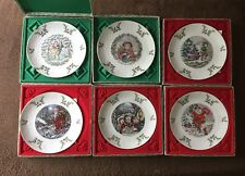 Set Of 6 Royal Doulton Merry Christmas Collectors Plates 1977 To 1982 Boxed