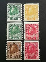 Canadian Stamps -- Canada 1912-1924 King George Perf8 125-130 (SCOTT 238.50 USD)
