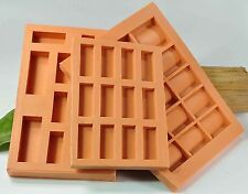 (G01) 3 x GUSSFORMEN für unterschiedl. Ziegelsteine und Dachziegel, Krippenbau