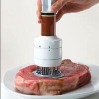 Stainless Steel Meat Tenderizer Needle and Meat Injector Marinade Flavor_Kitc HK