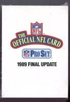 (2) 1989 Pro Set Pro Football Final Update High Series Complete Set - Sharpe RC