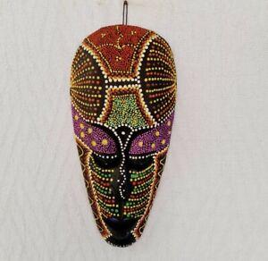 Handmade Wooden Dot Mask African Safari Made In Sri Lanka Free & Fast Shipping