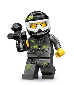 RARE Lego minifig series 10 Paintball guy with mask marker gun vest googles ammo