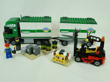 Lego City 7733  Cargo LKW Truck Sattelzug mit Gabelstapler komplett