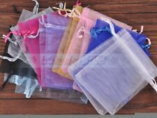 """100pcs Mixed Color Nice Organza Jewelry Party Candy Gift Bag 9x7cm(3.5""""x2.8"""")"""