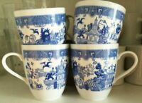 Calamityware 12-oz [Lot of 4] Coffee Tea Mugs Porcelain Calamity Ware Cup Poland