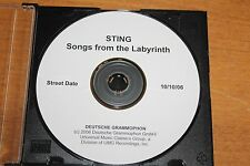 The Police - Sting - USA PromoCD / Songs From The Labyrinth