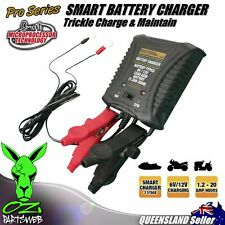 CHS075 Smart Battery Charger 6v & 12v .75A Car Bike Jetski ATV Trickle Maintain