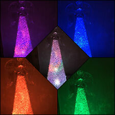 24cm Acrylic Multi Colour Changing LED Angel Christmas Decoration Ornament  4926