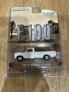 1973 FORD F-100 PICKUP TRUCK WHITE DIRTY  1/64 DIECAST CAR GREENLIGHT 30217
