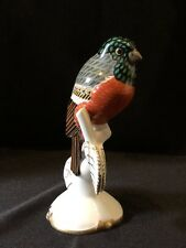 "Unique Zeh Scherzer porcelain figurine bird  H.ISCHINGER Art Nouveau 6"" H"