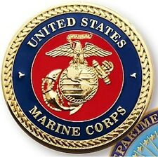 NEW USMC UNITED STATES MARINES CORPS SEAL DEPARTMENT OF DEFENSE CHALLENGE COIN 1