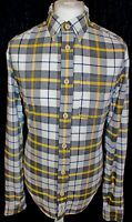 ABERCROMBIE & FITCH Muscle Mens Check Lumberjack Long Sleeved Shirt Size Large