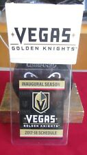 Vegas Golden Knights 2017-18 INAUGURAL SEASON SCHEDULE  (1) schedule