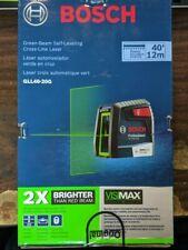 Bosch 40 Visimax Green Beam Self Leveling Cross Line Laser Gll40 20g Newother