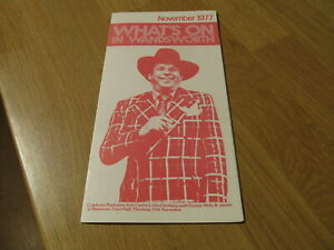 1977 What's On in Wandsworth Battersea Arts Centre George Melly Theatre Leaflet