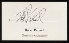 Robert Ballard Signed 3x5 Index Card Signature Autographed Archeologist