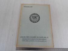 CATALOGO PARTI DI RICAMBIO ORIGINALE 1932 CHASSIS FIAT 507
