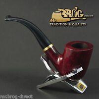 "OUTSTANDING Hand made by Mr.Brog original smoking pipe nr 90 burgundy ""STEWARD"""
