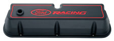 Proform 302-003 Aluminum Valve Covers - SBF - Tall - Black - Ford Racing Logo