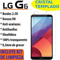 CRISTAL TEMPLADO PROTECTOR DE PANTALLA PARA LG G6 VIDRIO 9H