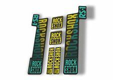 Rock Shox Rs1 2018 Fork Decal Mountain Bike Cycling Sticker Yellow Dolphin