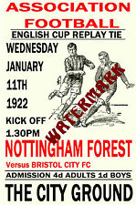 NOTTINGHAM FOREST - VINTAGE 1920's STYLE MATCH POSTER