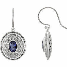 Iolite & 1/3 CTW Diamond Earrings In 14K White Gold