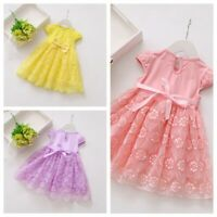 Flower Baby Girls Kids Toddler Princess Party Pageant Wedding Tulle Tutu Dress