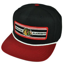 NHL American Needle Chicago Blackhawks Flat Bill Snapback Hat Cap Black Sports
