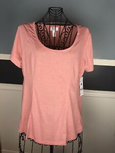 Just Be 2x womens tops cute light pinkish Coral Shirt Clothes