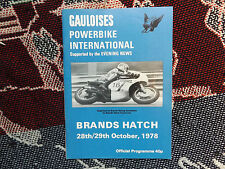 1978 BRANDS HATCH PROGRAMME 29/10/78 - GAULOISES POWERBIKE INTERNATIONAL