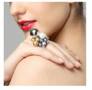Dolce & Gabbana High Fashion Lux Beaded Ring Size 7