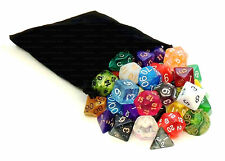 1/4 Pound of Polyhedral Dice with Bag - Includes at Least One Complete Set of 7