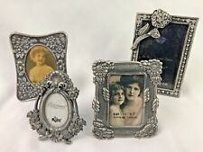 Lot Of 4 Stand Up Miniature Picture Frames Ornate Art Nuvo Victorian Look Loc S