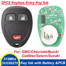 New 2pcs Keyless Entry Key fob Replacement for Chevy Silverado Express OUC60270