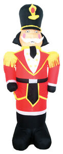 CHRISTMAS TOY SOLDIER SANTA AIRBLOWN INFLATABLE 7 FEET YARD DECORATION