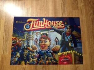 WILLIAMS funhouse Pinball Machine Translite
