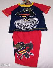Adelaide Crows AFL Boys Navy Blue Red Printed 2 Piece Pyjama Set Size 4 New